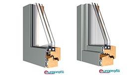 Sistemas de ventanas mixtas madera -aluminio Europrofili