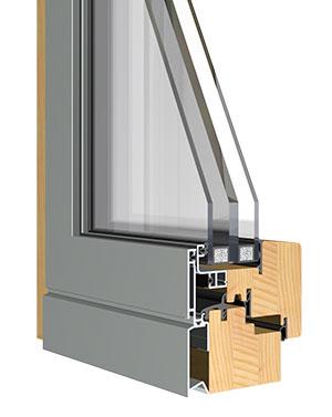 Sistema de ventana madera aluminio europrofili sistema evo