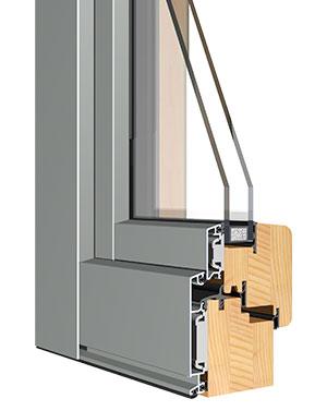 Sistema de ventana madera aluminio europrofili sistema sprint